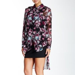 NWT BCBGeneration Floral Hi-Lo Dress